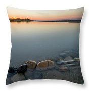 Platte River Sunset 2x1 Panorama Throw Pillow