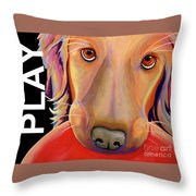 Play More Throw Pillow