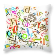Play On Golf Words Throw Pillow
