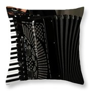 Play The Accordion Throw Pillow