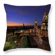 Plaza De Armas And Cathedral Of Arequipa, Peru Throw Pillow by Sam Antonio Photography