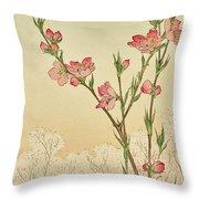 Plum Or Cherry Blossom Throw Pillow
