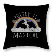 Poetry Is Magical Throw Pillow