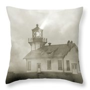 Point Cabrillo Lighthouse California Sepia Throw Pillow