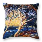 Point Lobos Trees 1919 Throw Pillow