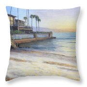 Point Of Rocks At Sunset Throw Pillow