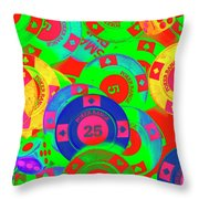 Poker Stacks Throw Pillow