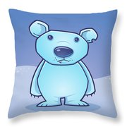 Polar Bear Cub Throw Pillow
