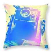 Polarised Pop Art Throw Pillow