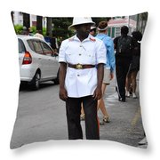 Police Officer Throw Pillow