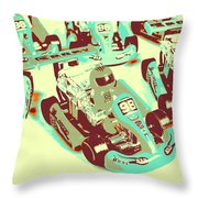Poll Position Posterized Throw Pillow