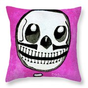 Pollito Sugarskull Of Cuteness Throw Pillow