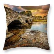 Pont Pen-y-llyn Bridge Snowdonia Throw Pillow