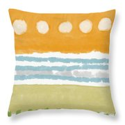 Poolside 2- Art By Linda Woods Throw Pillow