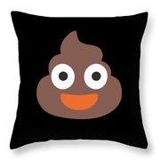 Poop Smile Throw Pillow