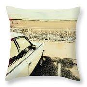 Pop Art Beach Carpark  Throw Pillow