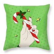 Pop Art Candy Cane Throw Pillow