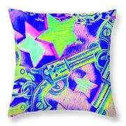 Pop Art Police Throw Pillow
