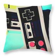 Pop Artcade Throw Pillow