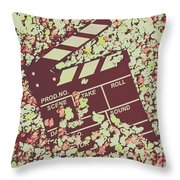 Popcorn Premiere  Throw Pillow