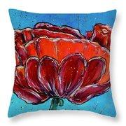 Poppy Flower Throw Pillow by Jacqueline Athmann