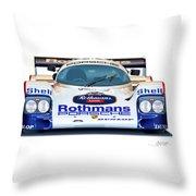 Porsche 962 Al Holbert Racing Throw Pillow