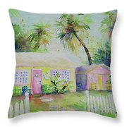 Port A Cabins Throw Pillow