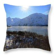 Portage Lake Alaska Throw Pillow