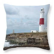 Portland Bill Throw Pillow