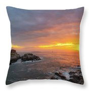 Portland Head Lighthouse Sunshine  Throw Pillow