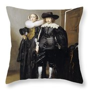 Portrait Of A Betrothed Couple  Throw Pillow