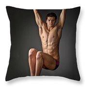 Portrait Of A Swim Prodigy. Throw Pillow