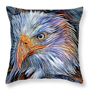 Portrait Of A Watchful Eye Throw Pillow