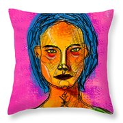 Portrait Of A Woman 1139 Throw Pillow