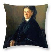Portrait Of Anna Olsufyeva Throw Pillow