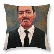 Portrait Of Artist Carl Butler Throw Pillow