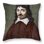 Portrait Of Descartes Throw Pillow