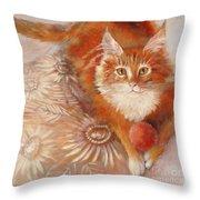 Portrait Of Fandorin Throw Pillow