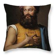 Portrait Of Giovanni Belzoni Throw Pillow