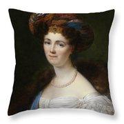 Portrait Of Josephine Victoire Meslier Duvey D  Throw Pillow