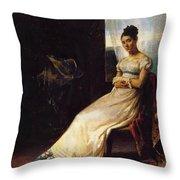 Portrait Of Laura Bro 1820 Throw Pillow