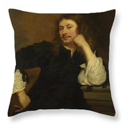 Portrait Of Lucas Fayd Herbe  Throw Pillow