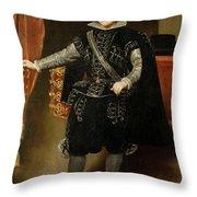 Portrait Of Philip Iv  Throw Pillow