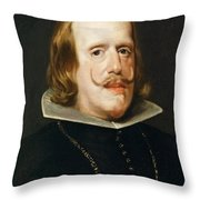 Portrait Of Philip Iv  King Of Spain  Throw Pillow