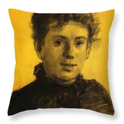 Portrait Of Tatyana Tolstaya Leo Tolstoy Daughter Throw Pillow