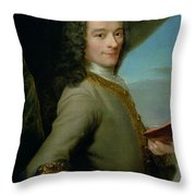 Portrait Of The Young Voltaire  Throw Pillow