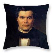 Portrait Of Yakov Merkulov Throw Pillow