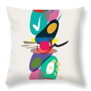 Positive Colors Building Throw Pillow