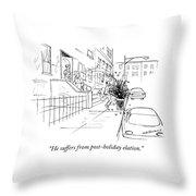 Post Holiday Elation Throw Pillow