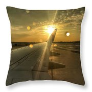 Post Storm Mornings Throw Pillow